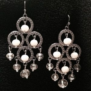 Simply Vera by Vera Wang white chandelier earrings